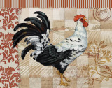 Bergerac Rooster Red I Posters by Paul Brent