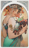 Fruit, c.1897 Art by Alphonse Mucha