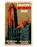 Concerts, Belgian Railways, c.1930s Art