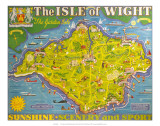 The Isle of Wight, BR, c.1949 Láminas por Tom Smith
