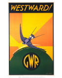 Westward!, GWR, c.1932 Poster by Phillip Brown