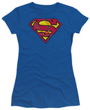 Juniors: Superman-Action Shield T-Shirt