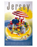 Jersey, BR, c.1948-1965 Poster by E. Lander