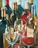 Wine Reflections I Poster par Gregory Gorham