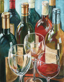 Wine Reflections I Poster by Gregory Gorham