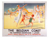 The Belgian Coast, LNER, c.1934 Prints