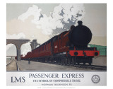 Passenger Express, LMS, c.1930s Posters