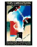 Vers LAngleterre via Calais, Douvres, SR, c.1930 Affiches