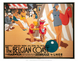 The Belgian Coast, LNER, c.1930 Prints
