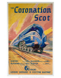 The Coronation Scot, LMS, c.1937 Prints