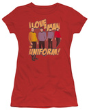 Juniors: Star Trek-Man In Uniform T-shirts