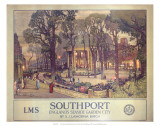 Southport, Englands Seaside Garden City, LMS, c.1923-1947 Prints