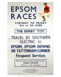 Epsom Races, BR, c.1957 Print