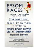 Epsom Races, BR, c.1957 Print