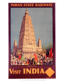 Visit India, Indian State Railways, c.1930s Poster