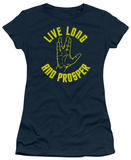 Juniors: Star Trek-Live Long Hand T-Shirt