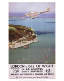 London & Isle of Wight in 40 Minutes, SR, c.1935 Affiche par Charles Pears