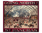 Going North St. Pancras, MR, c.1910 Posters