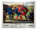 The Highland Games, LMS and LNER, c.1930s Kunstdrucke