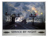 Service by Night, BR, c.1955 Art par David Shepherd