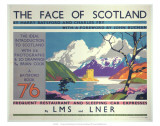 The Face of Scotland, LMS/LNER, c.1935 Prints