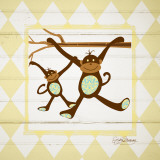 Monkeys Print by Sylvia Murray