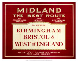 Midland, The Best Route, Midland Railway, c.1920s Posters