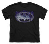 Youth: Batman-Cracked Shield T-shirts