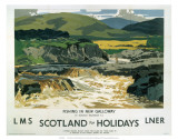 Fishing in New Galloway, LMS/LNER, c.1923-1947 Prints