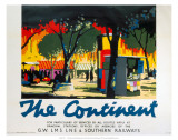 The Continent, GWR/LMS/LNER/SR, c.1923-1947 Affiches