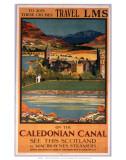 Caledonian Canal, MacBrayne/LMS, c.1930s Print