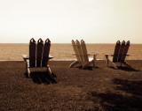 Adirondack Chairs II Print by Alan Hausenflock