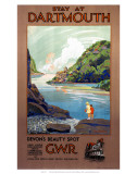 Stay at Dartmouth, GWR, c.1930s Poster