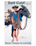 East Coast Types, No 6, The Donkey Boy, LNER, c.1923-1947 Poster af Frank Newbould