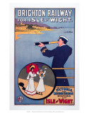Brighton Railway for the Isle of Wight, LBSCR, c.1910 Lámina