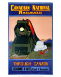 Through Canada, Canadian National Railways, c.1930s Poster