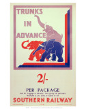 Trunks in Advance, SR, c.1934 Art
