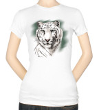 Juniors: White Tiger Stripe Shirts