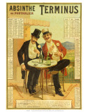 Calendar advertising Absinthe Terminus, 1894 Poster