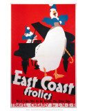 East Coast Frolics, LNER, c.1933 Print by Frank Newbould