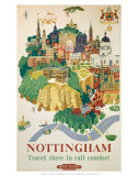 Nottingham, BR, c.1953 Print