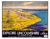 Explore Lincolnshire, LNER, c.1936 Print