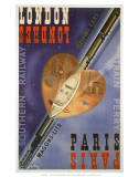London-Paris Train Ferry, SR, c.1939 Poster