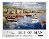 Go abroad to the Isle of Man, BR (LMR), c.1948-1965 Print by Peter Collins