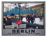 Berlin via Harwich twice a day, LNER, c.1925 Print