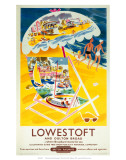 Lowestoft and Oulton Broad, BR (ER), c.1960 Prints