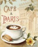 Cafe in Europe I Plakat af Lisa Audit