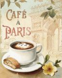 Cafe in Europe I Lámina por Lisa Audit