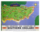 Southern England, BR, c.1950s Print