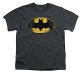 Youth: Batman-Destroyed Logo Shirts